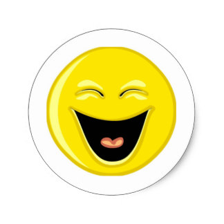 324x324 Laughing Smiley Face Stickers