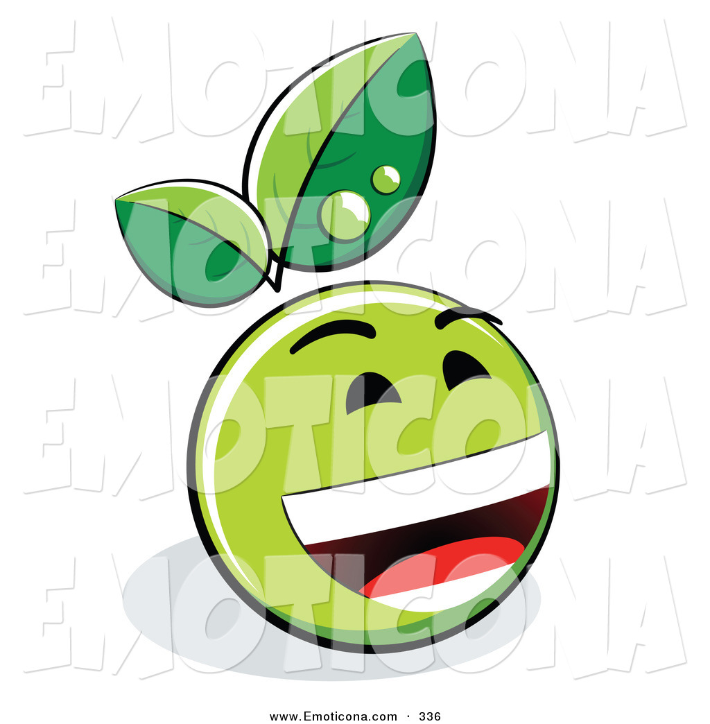 1024x1044 Vector Illustration Of A Laughing Green Organic Smiley Face Green