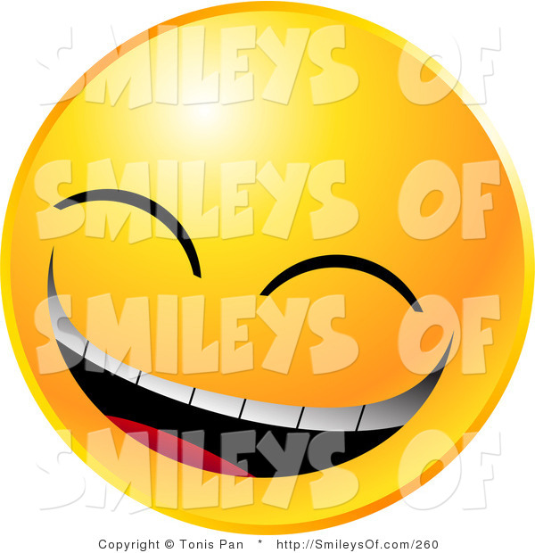 600x620 Vector Of A Yellow Smiling Emoticon Face Laughing Really Hard By