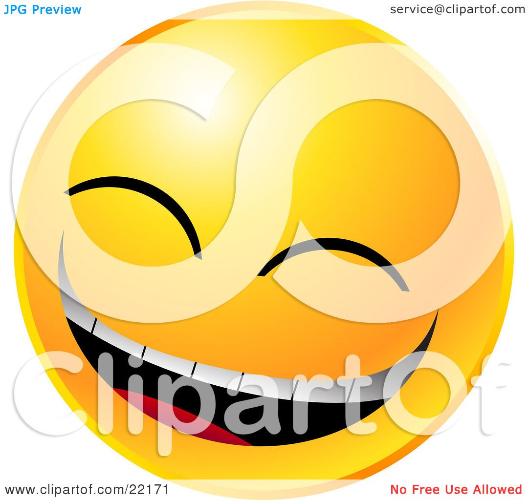1080x1024 Clipart Illustration Of A Yellow Emoticon Face Laughing Really