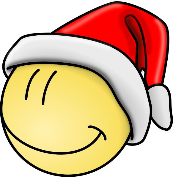 582x596 Smiley Christmas Clipart