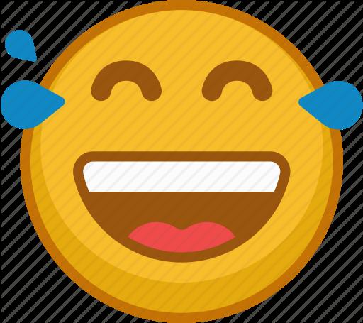 512x455 Emoji, Emoticon, Emoticons, Emotion, Laugh, Smile, Tears Icon