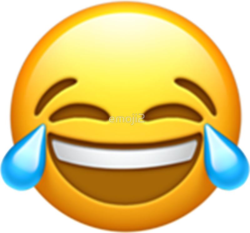 800x746 Emoji Laugh Tears Stickers By Emoji2 Redbubble