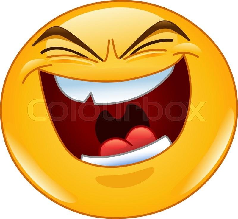 800x735 Emoticon With Evil Laugh Stock Vector Colourbox