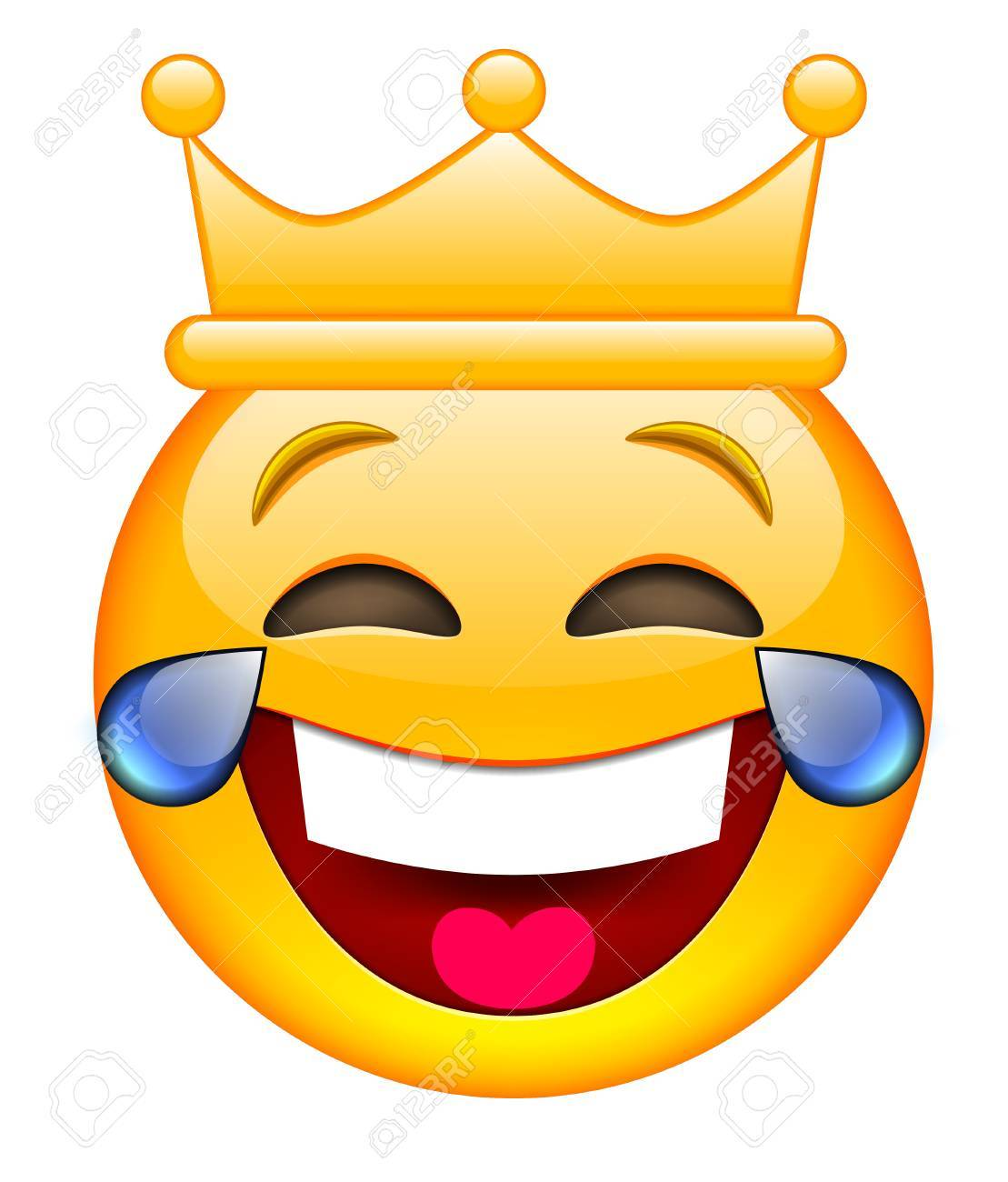 1109x1300 Laughing Face With Crown. Laughing Emoji With Crown. Laughing