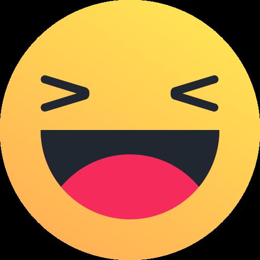 512x512 Laugh, Emoticon, Smile, Joy, Happy, Emoji, Reaction Icon