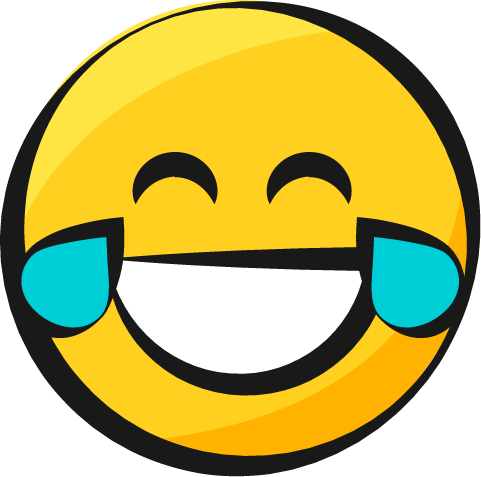481x477 Smiley Jaune Emoji Yellow Rire Pleurer Laughing Crying Larmes De