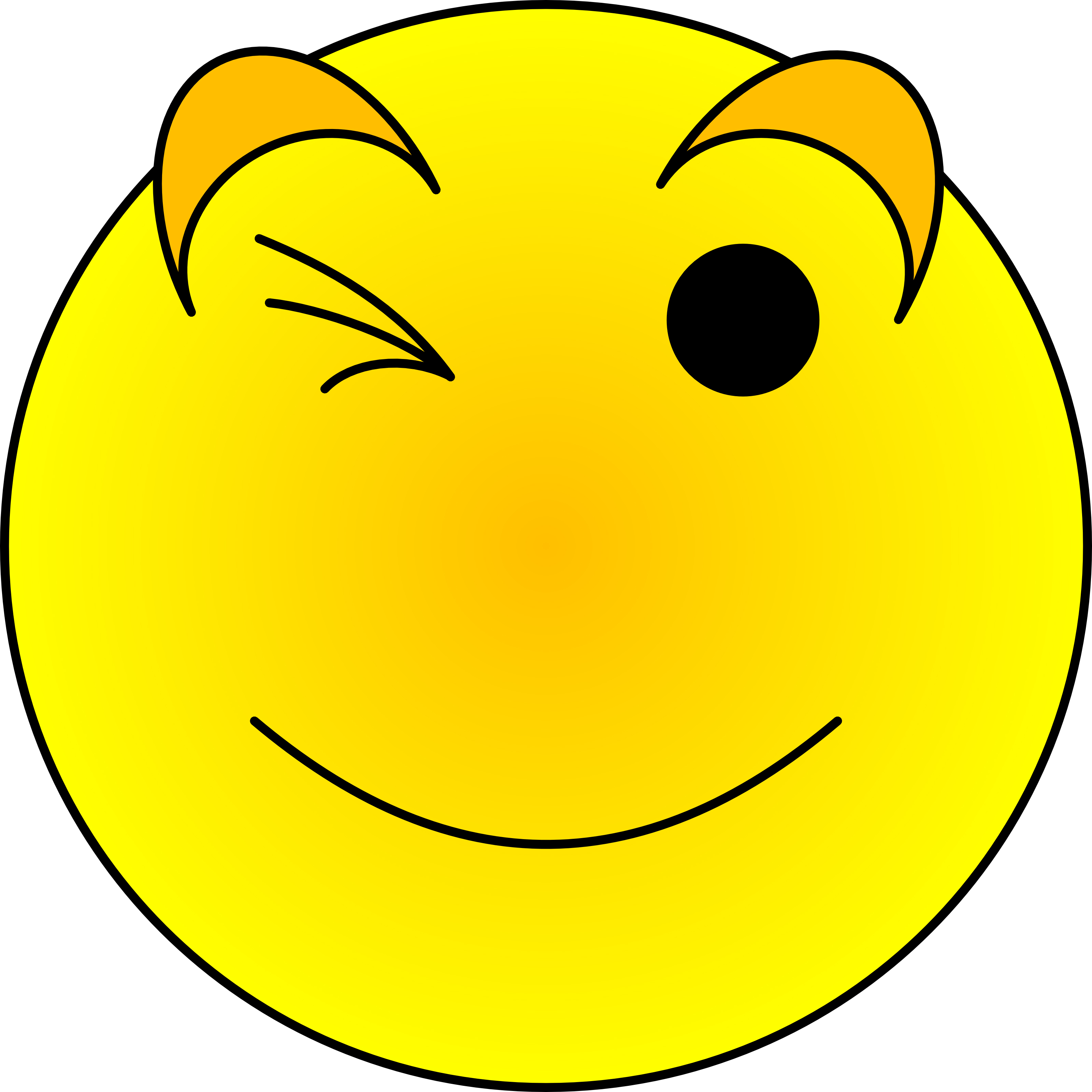 3200x3200 Winking Emoji 0 Images About Clip Art On Smiley Faces Free 2