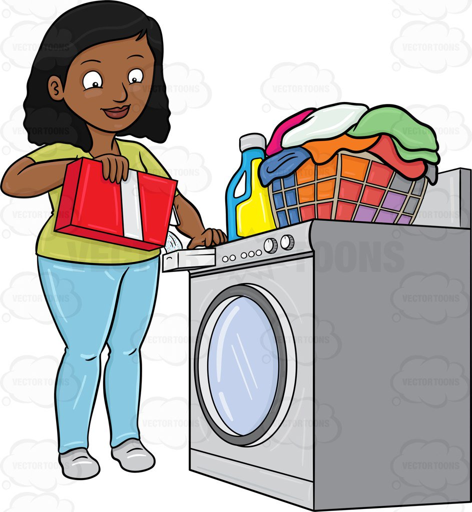 943x1024 A Black Woman Adding A Good Measure Of Detergent Powder To Her