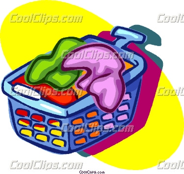 375x356 Clothes In Laundry Basket Clip Art Cliparts