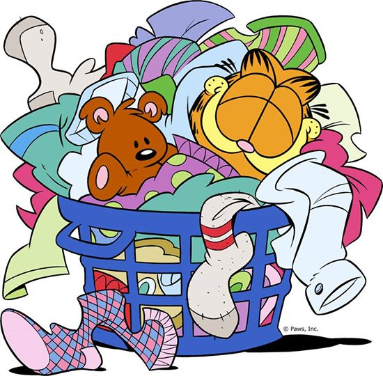 550x540 Happiness Is A Basket Of Warm Laundry. Cartoon Com