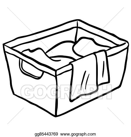 450x470 Laundry Basket Clip Art Black And White Cliparts