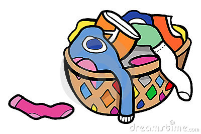 400x267 Laundry Basket Clipart