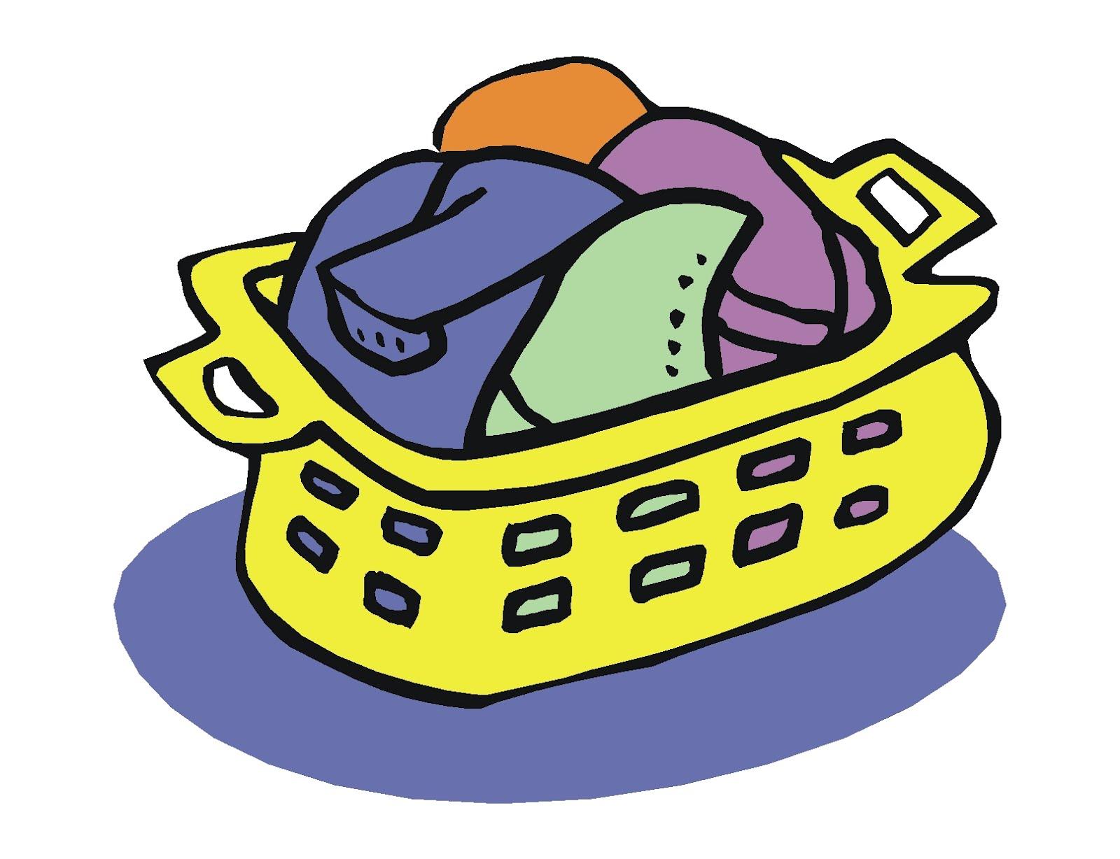 1600x1228 Basket Clipart Clothes