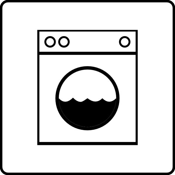 600x600 Hotel Icon Has Laundry Clip Art
