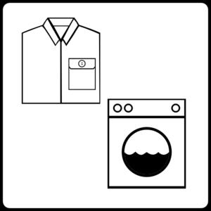 300x300 Hotel Icon Has Laundry Service Clip Art
