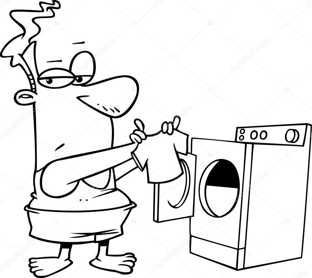 1023x909 Cartoon Man Laundry Stock Vector Ronleishman