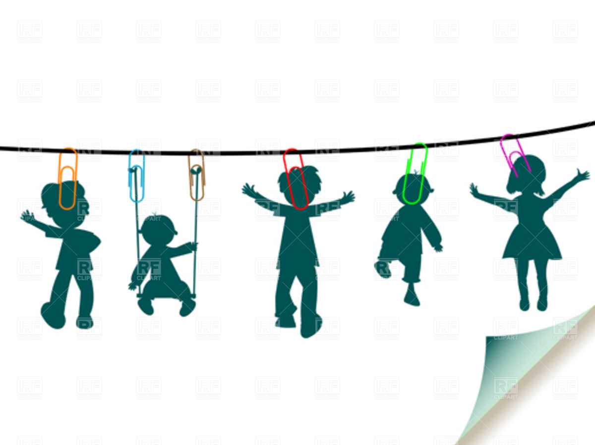 1200x899 Wet Children On The Laundry Rope Royalty Free Vector Clip Art