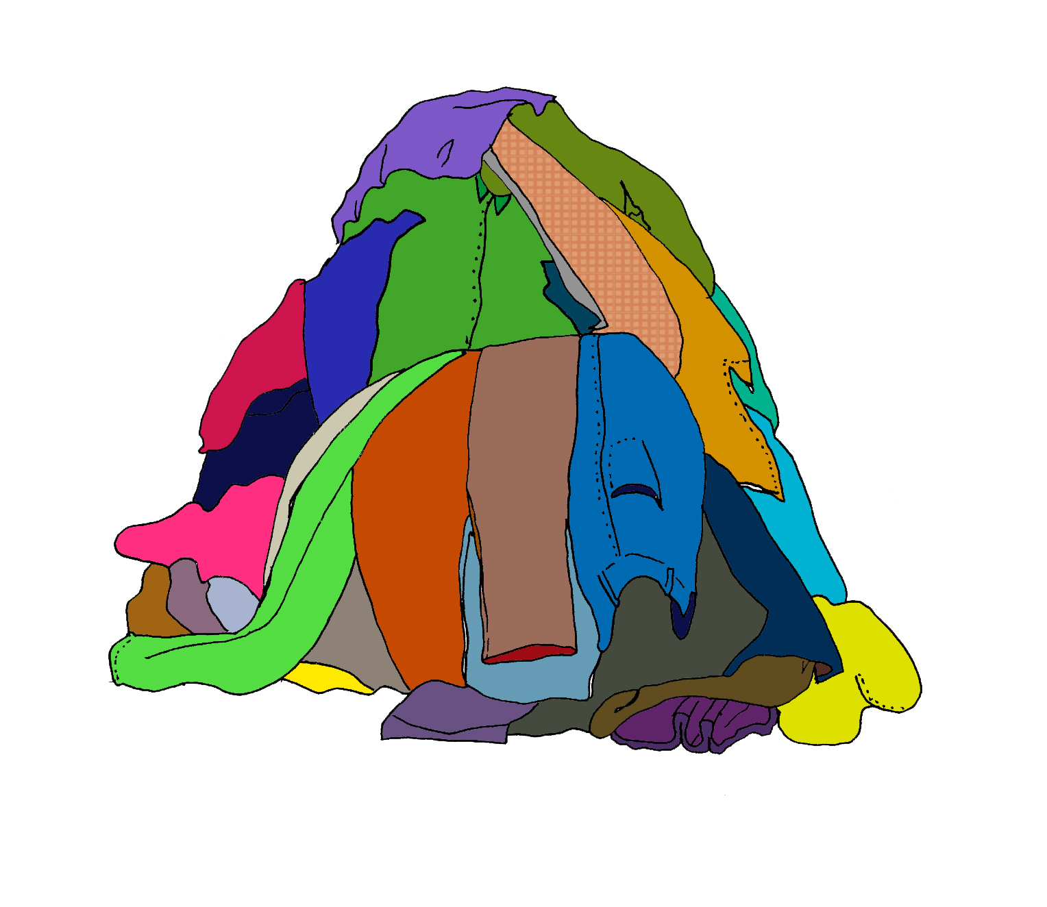 1528x1324 Pile Of Clothes Clipart
