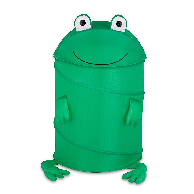 1500x1500 Honey Can Do Hmp 02058 Kid's Pop Up Hamper, Frog