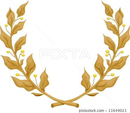 450x394 Golden Laurel Wreath
