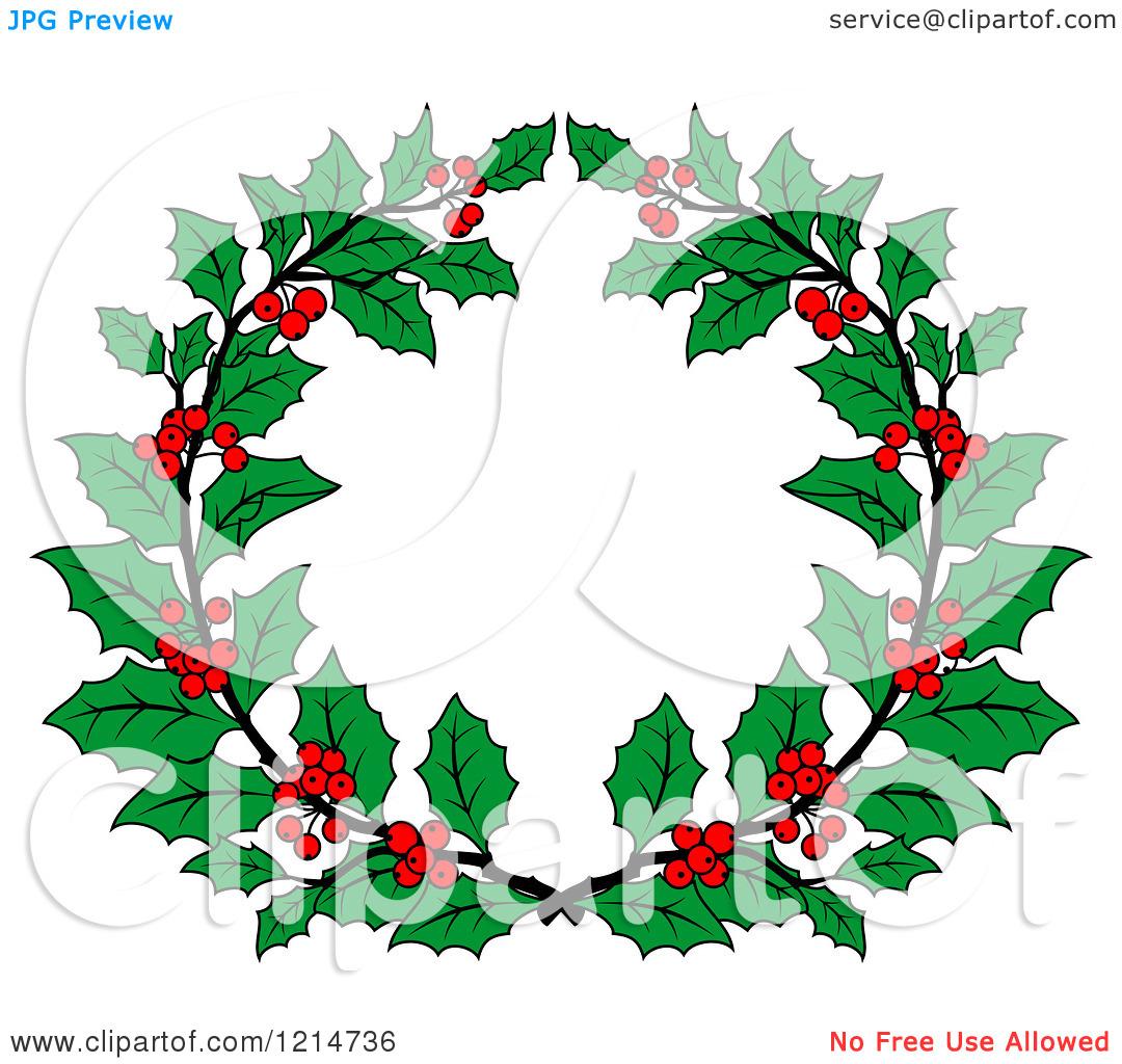 1080x1024 Holly Wreath Clipart
