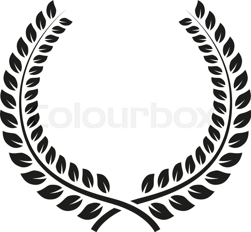800x738 The Laurel Wreath Icon. Prize And Reward, Honors Symbol. Flat