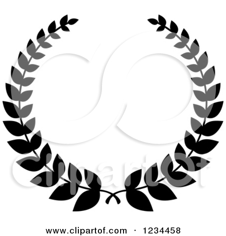 450x470 Wreath Black And White Clipart
