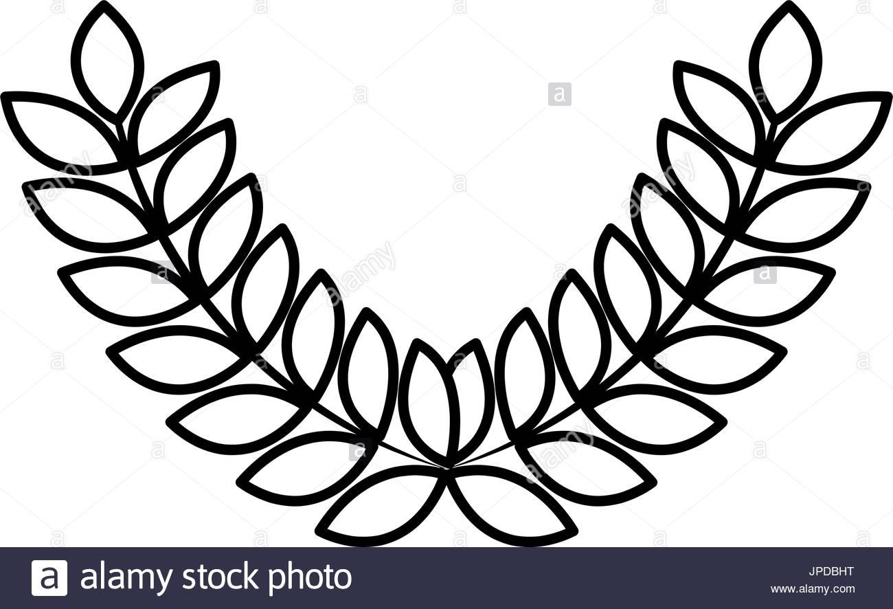 1300x886 Laurel Wreaths Sport Decoration Winner Symbol Stock Vector Art