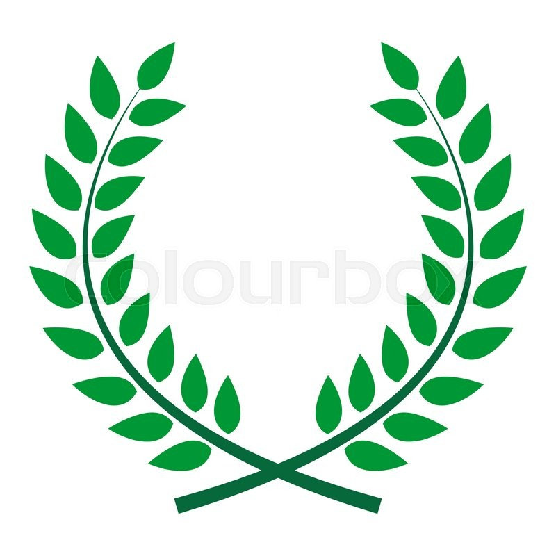 800x800 Award Laurel Wreath. Winner Leaf Label, Symbol Of Victory. Vector