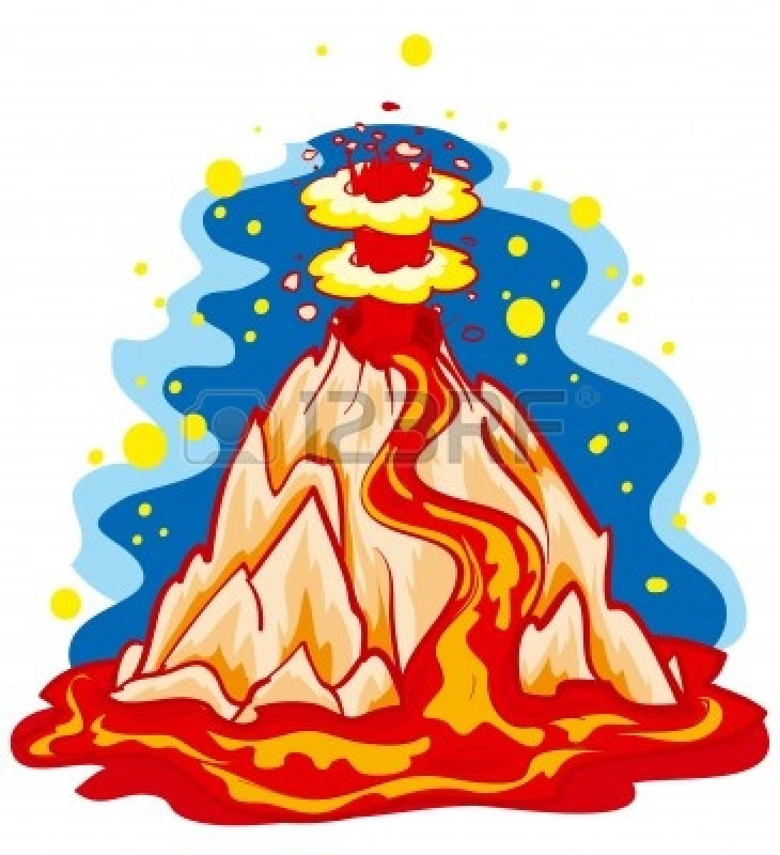 1095x1200 Disaster Clipart Volcano Lava