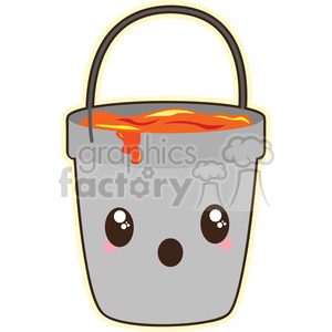300x300 Royalty Free Lava Bucket Cartoon Character Vector Image 394931