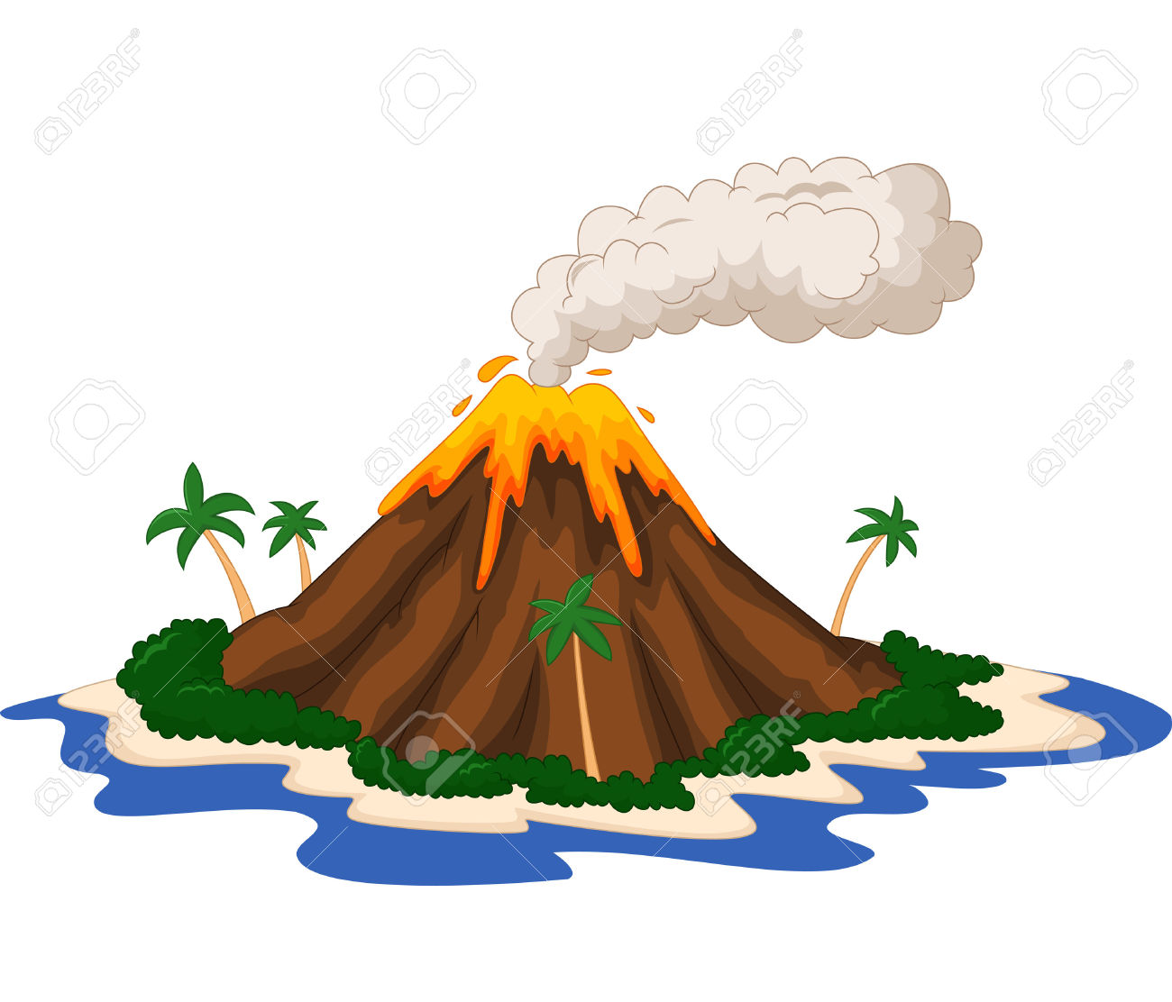 1300x1112 Volcano With Lava Id 80051 Clipart Pictures