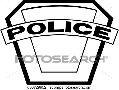 450x341 Clipart Of , Badge, Cop, Department, Emergency, Emergency Services