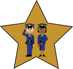 300x286 Police Officers Clipart Image