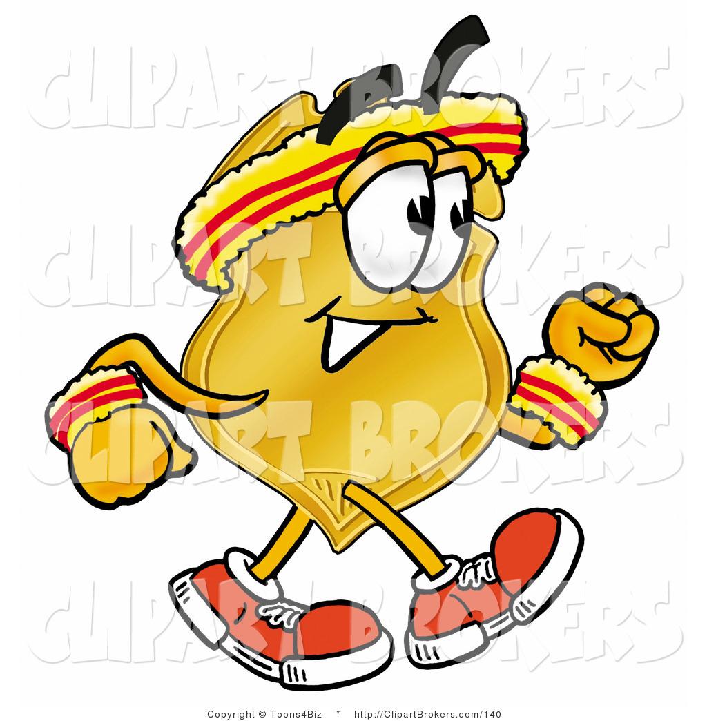 1024x1044 Clip Art Cartoon Of A Gold Badge Mascot Cartoon Character Speed