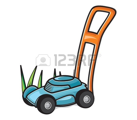 Lawn Mower Cartoon Clipart