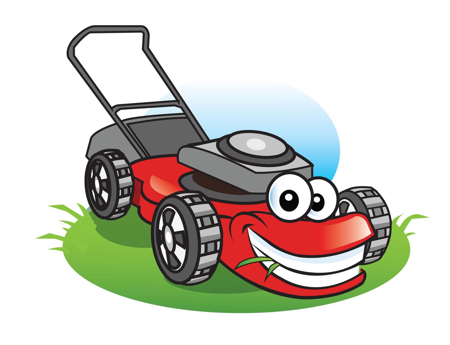 Cartoon Man On Mower : Lawn mower cartoon pictures free download best