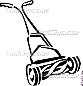 288x300 Push Lawnmower Vector Clip Art