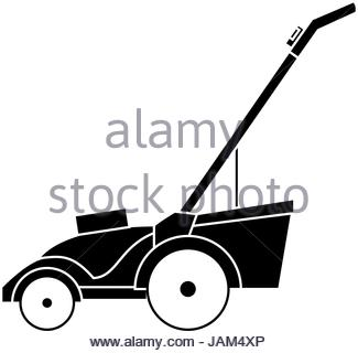 325x320 Lawn Mower Isolated Icon Stock Vector Art Amp Illustration, Vector