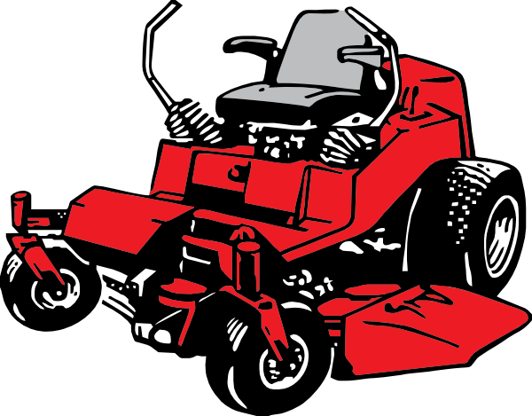 600x469 Riding Lawn Mower Clip Art Black And White Cliparts