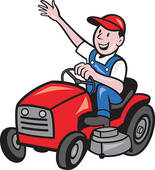 155x170 Riding Lawnmower Clipart