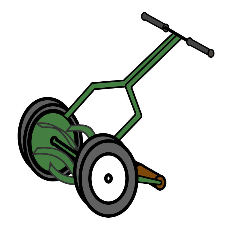 800x800 Cartoon Push Reel Lawn Mower Free Vector 4vector