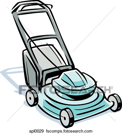 427x470 Stock Illustration Of An Illustration Of A Lawn Mower Apl0029