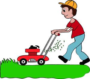 300x263 Lawn Mowing Clip Art