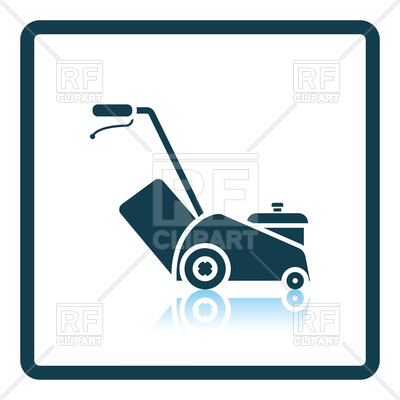400x400 Lawn Mower Icon Royalty Free Vector Clip Art Image