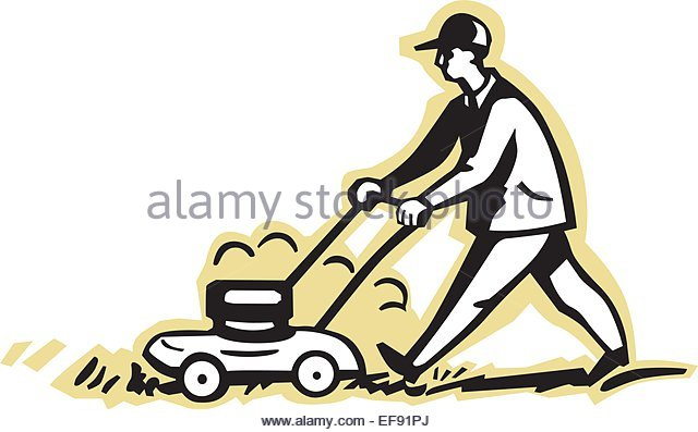 640x397 Lawnmower Stock Vector Images
