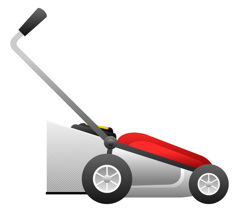 800x711 Red Clipart Lawn Mower