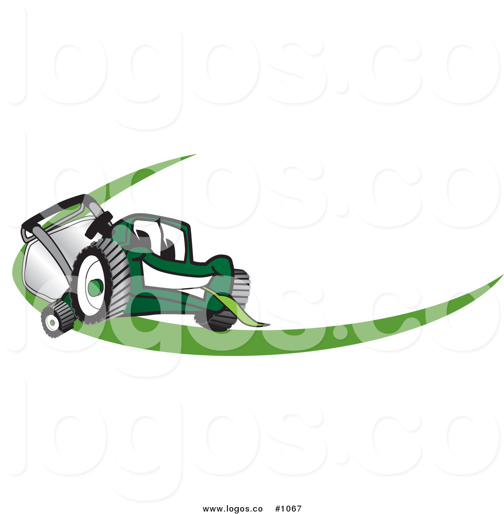 1024x1044 Royalty Free Cartoon Vector Logo Of A Green Lawn Mower Mascot
