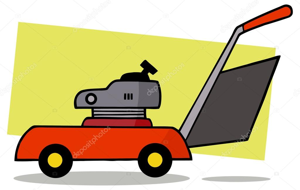 1023x648 Cartoon Lawn Mower Stock Vector Hittoon